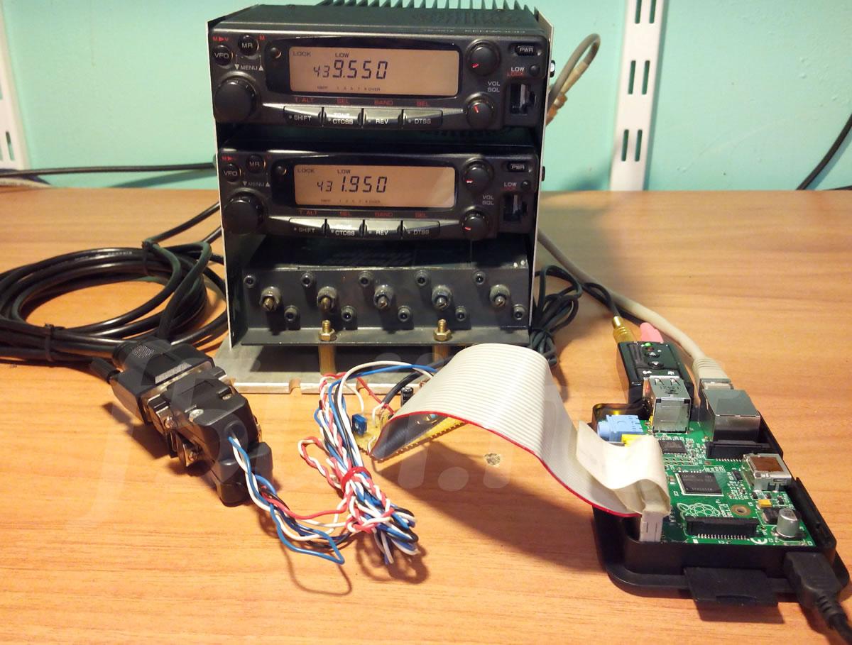 Relais Raspberry PI, SvxLink et TM451