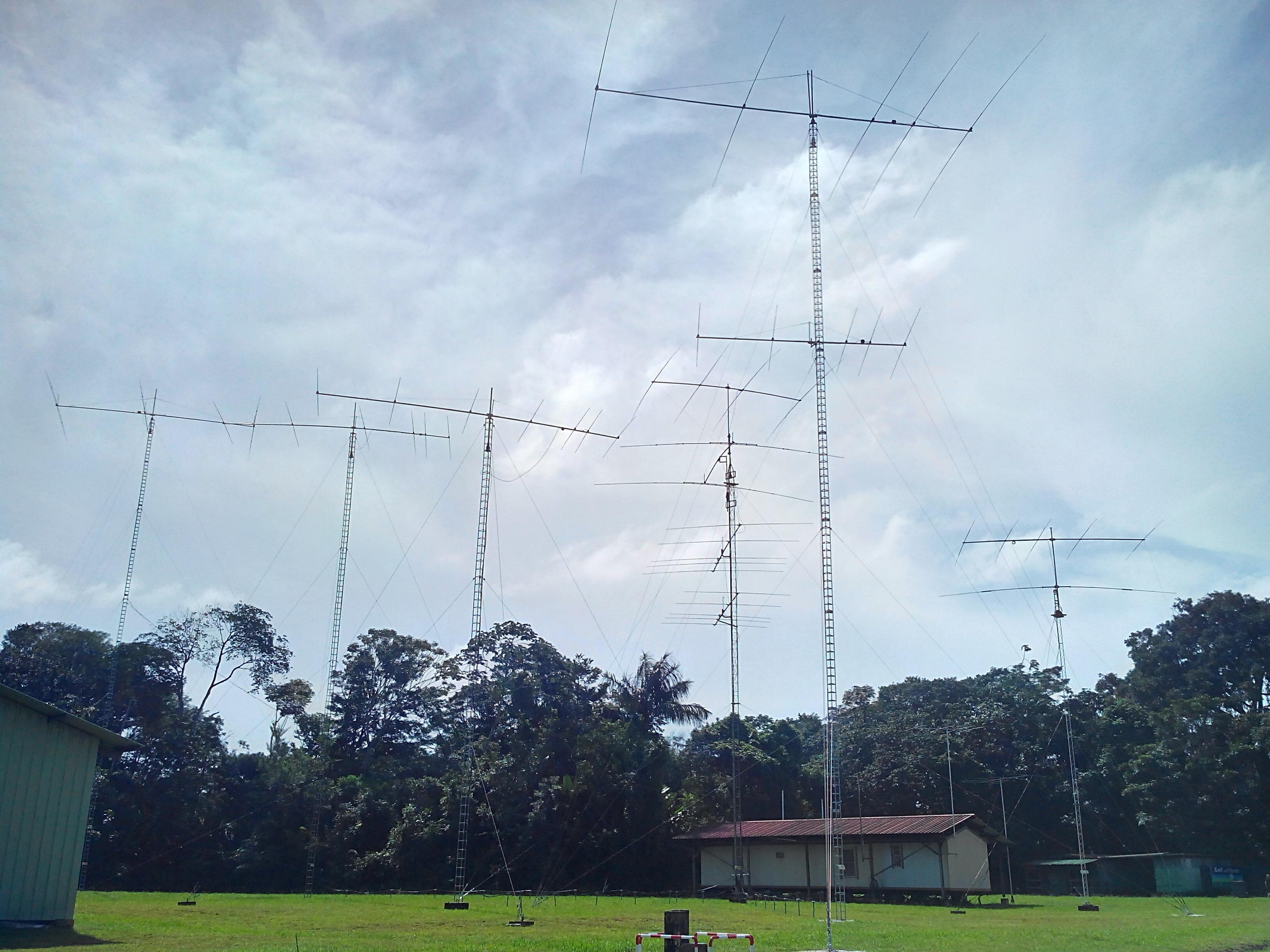Antennes du RACK FY5KE