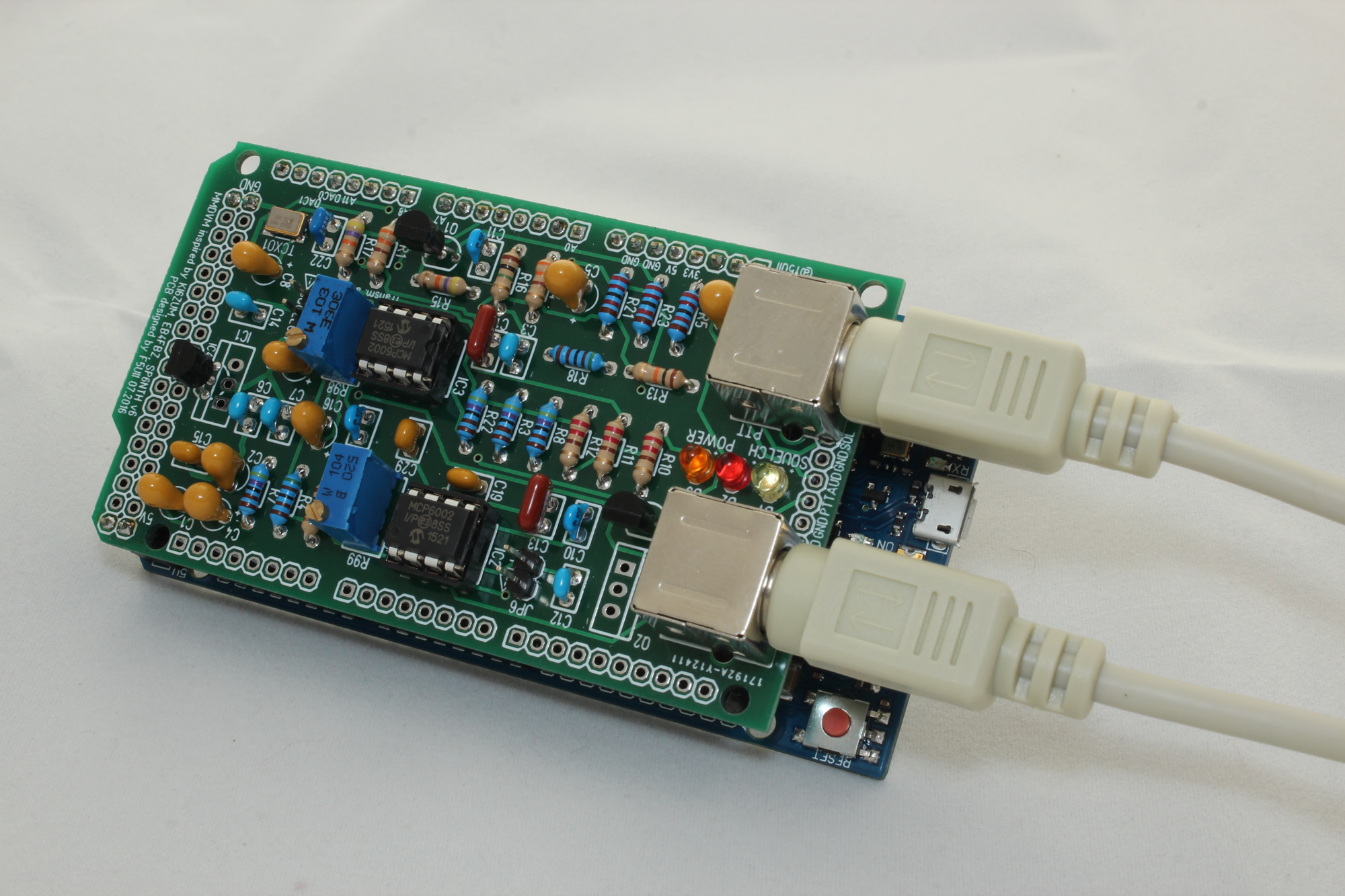 MMDVM board on its arduino due and mini 6 pin Din connections to the receiver and transmitter