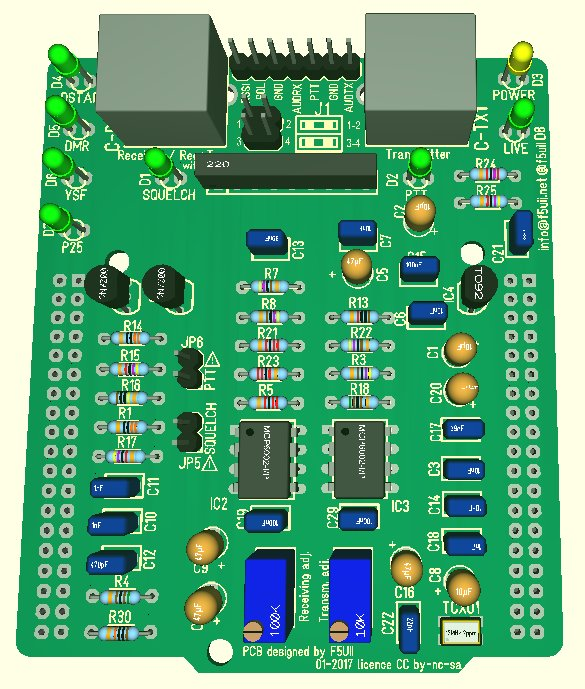 Top view of STM32F4 MMDVM shield