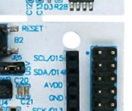 Hole neadr connector of STM32F446