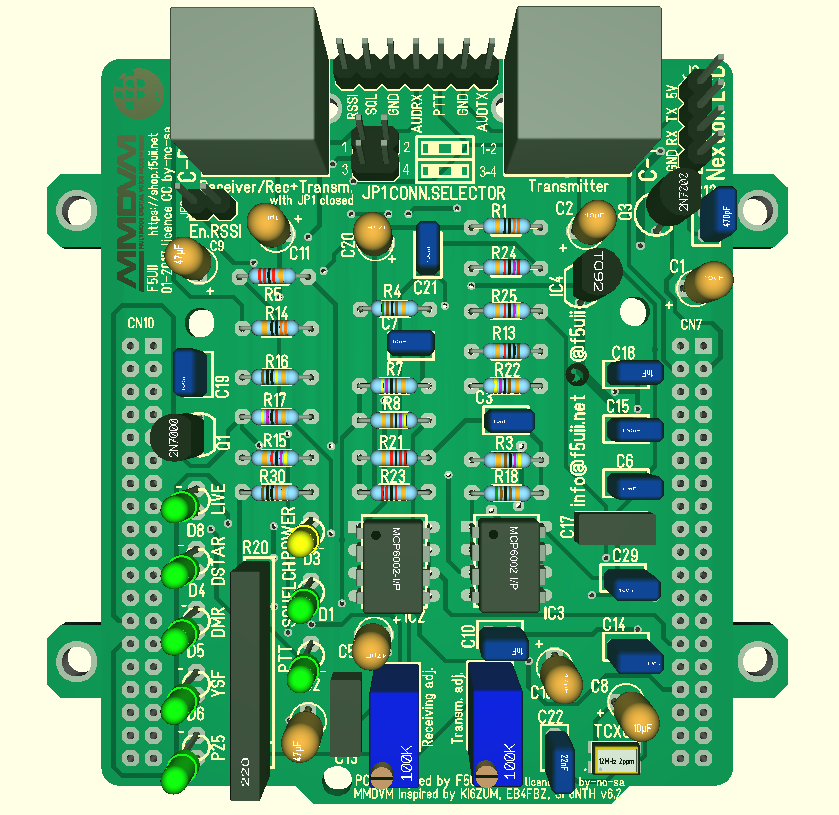 MMDVM plate for STM32 Nucleo