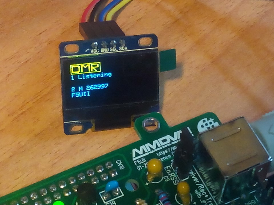 Installing the SSD1306 OLED Display on a MMDVM repeater