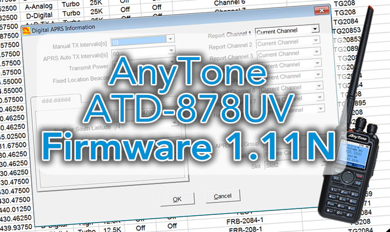 New firmware 1 11N for Anytone AT-D888UV – F5UII – French Hamradio