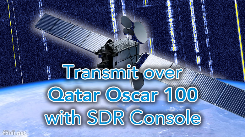 Transmit to the QO100 satellite with LimeSDR and SDR Console